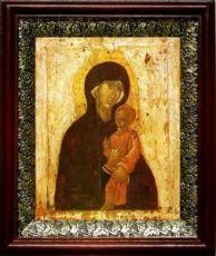 Пименовская икона БМ (19х22), темный киот