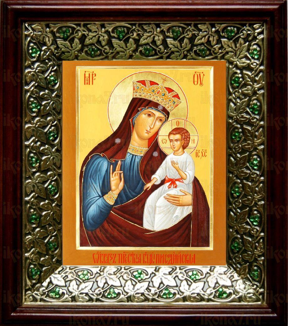 Писидийская икона БМ (21х24), киот со стразами