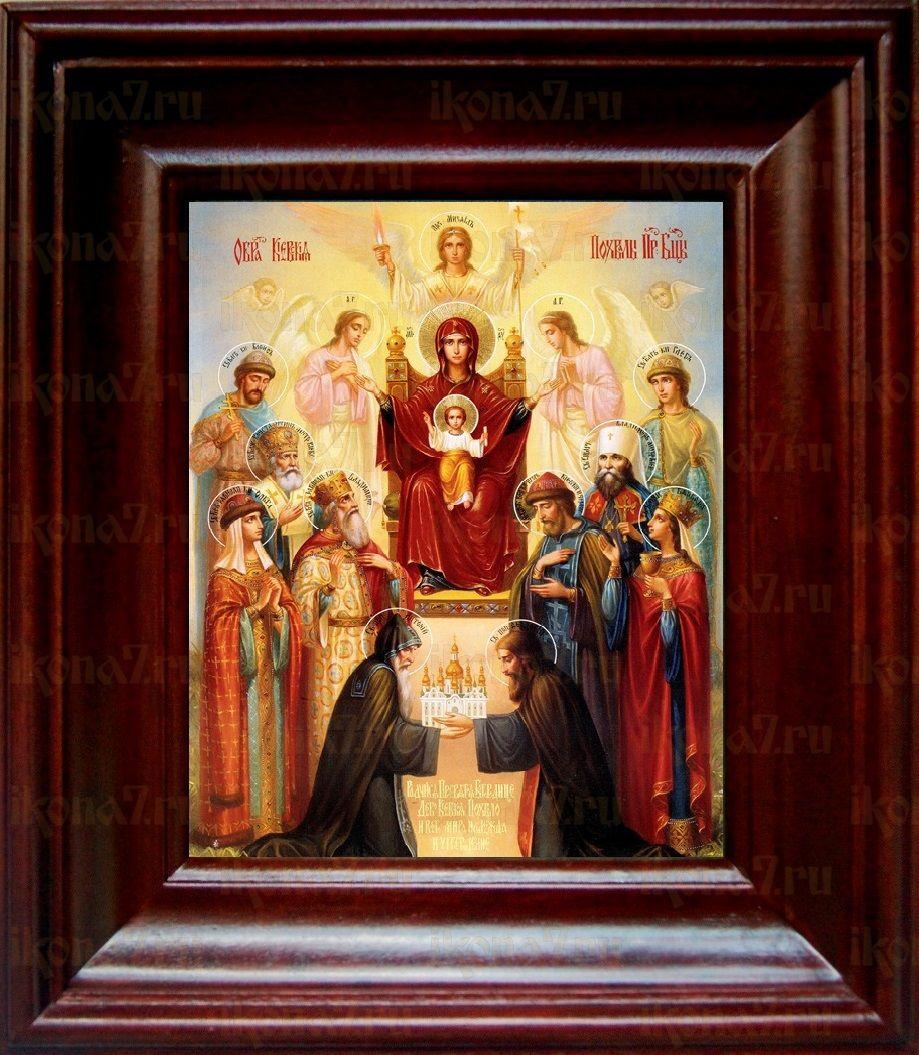 Похвала Пресвятой Богородицы (21х24), простой киот