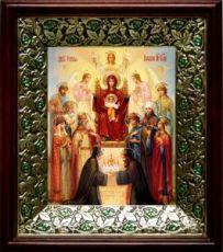 Похвала Пресвятой Богородицы (21х24), киот со стразами