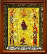 Похвала Пресвятой Богородицы (19х22), светлый киот