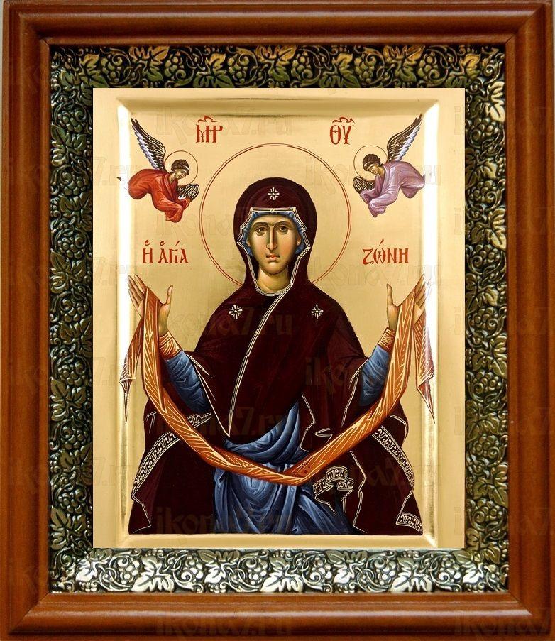 Пояс Пресвятой Богородицы (19х22), светлый киот
