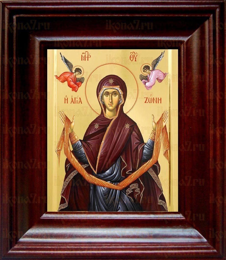 Пояс Пресвятой Богородицы (21х24), простой киот