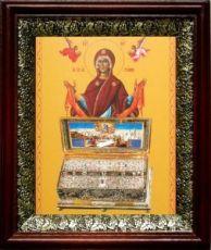 Пояс Пресвятой Богородицы (19х22), темный киот