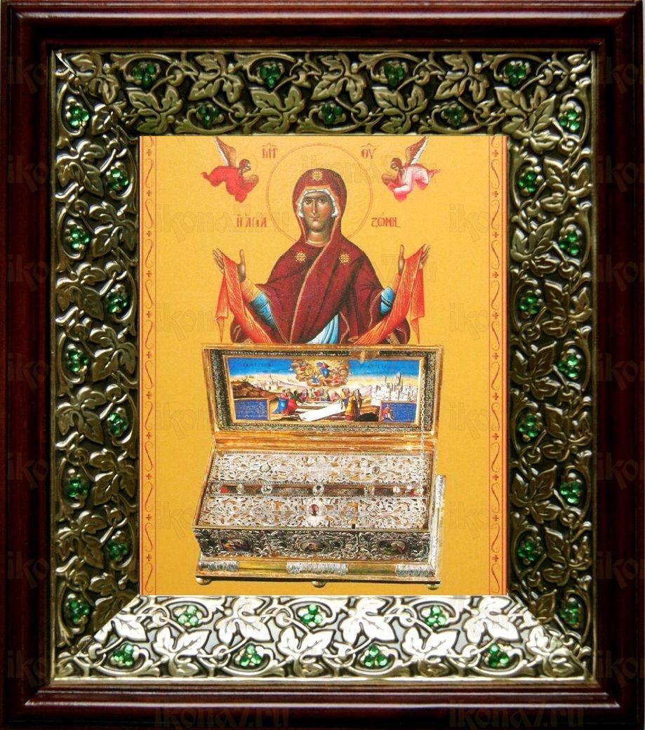 Пояс Пресвятой Богородицы (21х24), киот со стразами