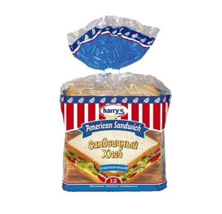 Хлеб HARRYS пшеничный нарезной 470г