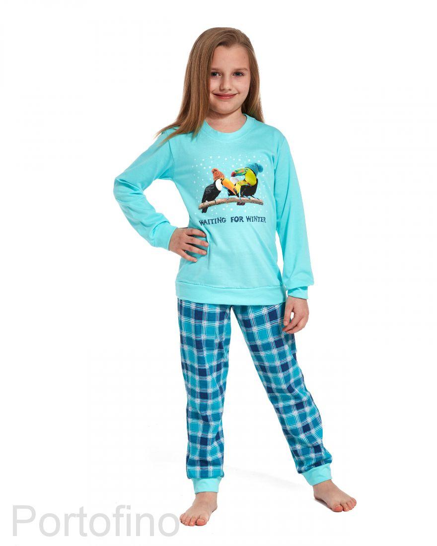 594-82 Пижама для девочек с длинным рукавом Cornette