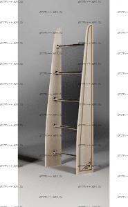 Лестница приставная Капитан КП-13/57 (40х22х157)