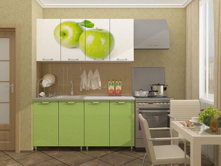 """Кухня с фотопечатью """"Яблоко"""" 1,6м"""
