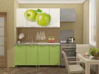 Кухня с фотопечатью Яблоко 1,6 м