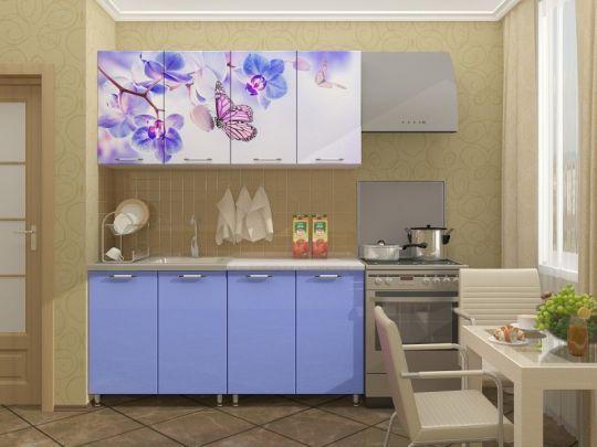 """Кухня с фотопечатью """"Бабочки"""" 1,6м"""