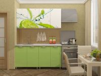 Кухня с фотопечатью Лайм МДФ 1,6 метра