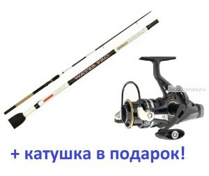Фидер  AIKO WATER PRO 902LBF 273 см / до 40 гр + катушка Cormoran Black Master BR 3000 в подарок!