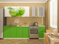 Кухня с фотопечатью Яблоко ЛДСП 2
