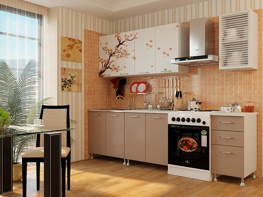 """Кухня с фотопечатью """"Сакура"""" 2м"""