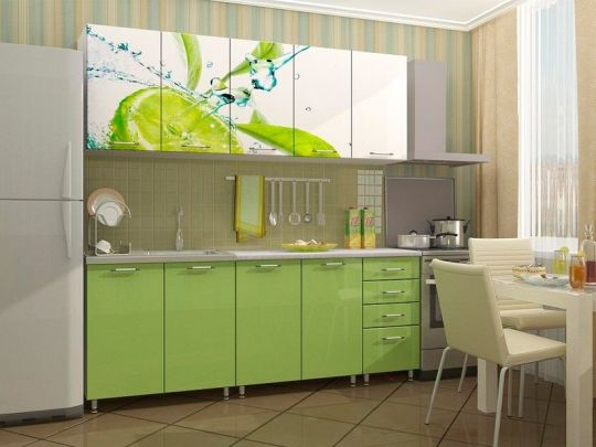"Кухня с фотопечатью ""Лайм"" 2м МДФ"