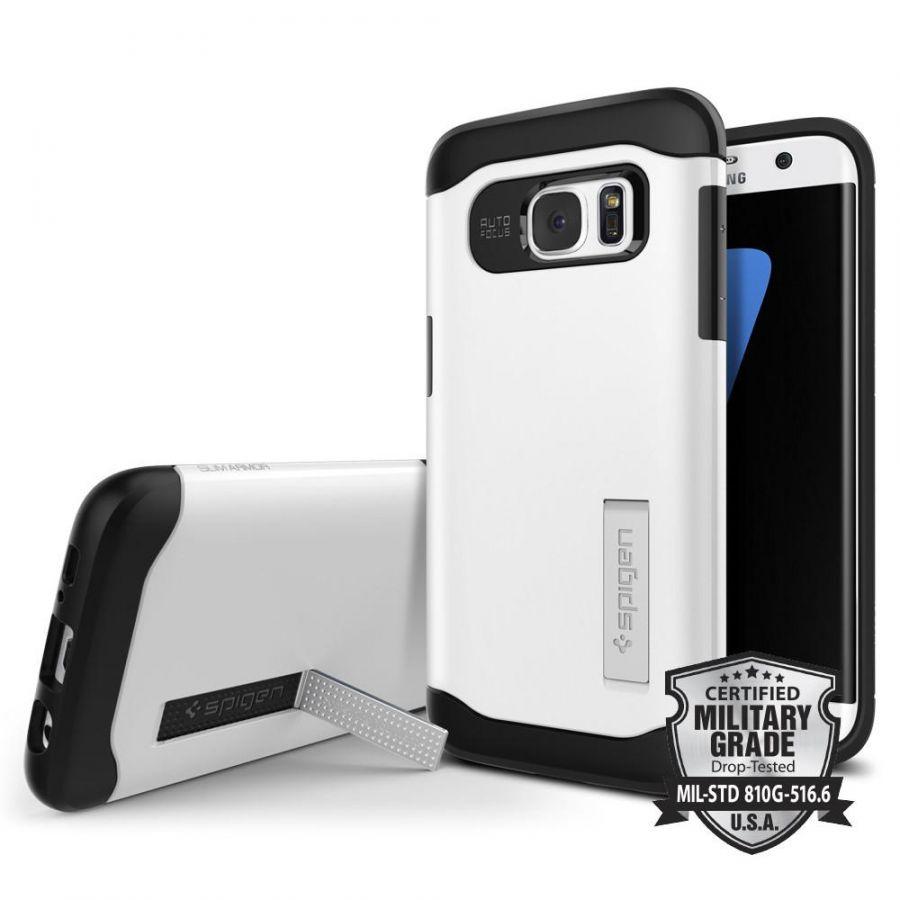 Чехол Spigen Slim Armor для Samsung S7 Edge белый