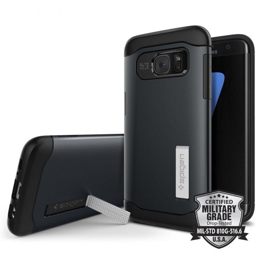 Чехол Spigen Slim Armor для Samsung S7 Edge синий металлик