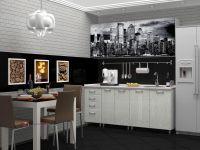 кухня с фотопечатью Сити МДФ 2м
