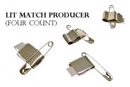 Lit Match Producer Зажигалки для спичек 4 шт на булавках