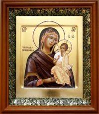 Псковская (Чирская) икона БМ (19х22), светлый киот