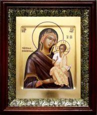 Псковская (Чирская) икона БМ (19х22), темный киот