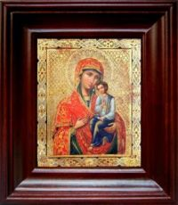 Святогорская икона БМ (21х24), простой киот