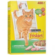 Friskies Сухой корм для кошек Кролик/овощи (400 г)