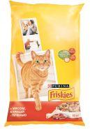 Friskies Сухой корм для кошек Мясо/курица/печень (10 кг)