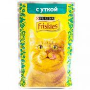 Friskies  Влажный корм для кошек с уткой (пауч 85 г)