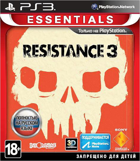 Игра Resistance 3 (PS3,PS Move)