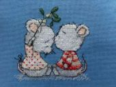 "Cross stitch pattern ""Sprig of mistletoe""."