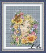 "Cross stitch pattern ""Summer girl""."