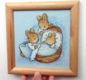 "Cross stitch pattern ""Little Bunny""."
