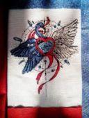 "Cross stitch pattern ""Swans""."