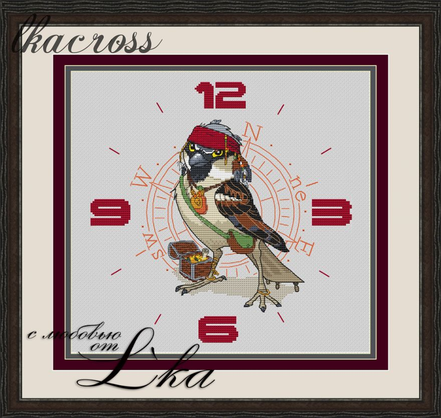 """Jack Sparrow - Watch"". Digital cross stitch pattern."