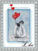"Cross stitch pattern ""Together forever""."
