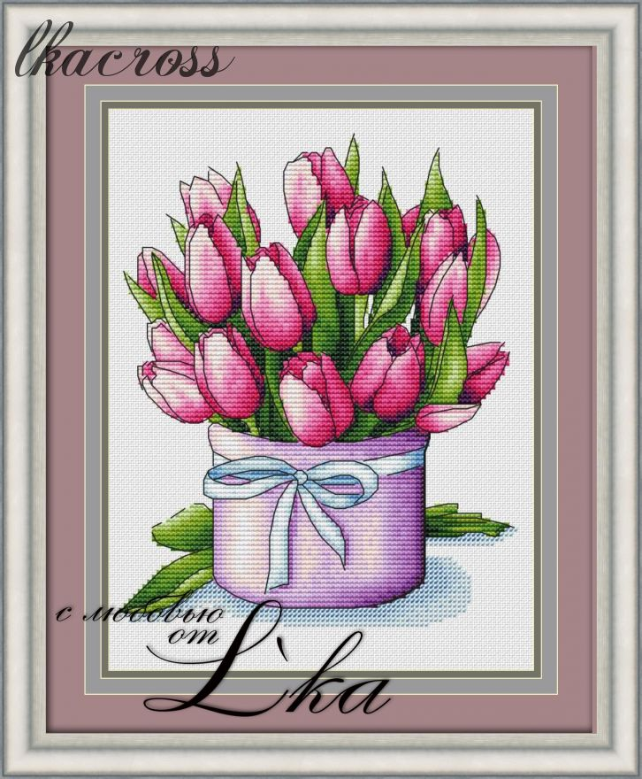 """Spring bouquet"". Digital cross stitch pattern."