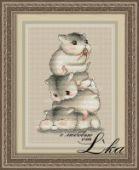 "Cross stitch pattern ""Hamsters""."