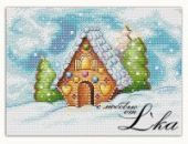 "Cross stitch pattern ""Gingerbread house""."