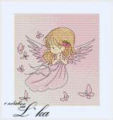 "Cross stitch pattern ""Angel""."