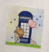 "Cross stitch pattern ""Telephone""."