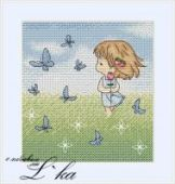 "Cross stitch pattern ""Rose""."