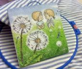 "Cross stitch pattern ""Dandelions""."