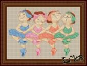 """Cross stitch pattern """"Swan lake. Rainbow""""."""