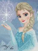 "Cross stitch pattern ""Elsa""."