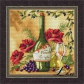 "Cross stitch pattern ""Vine Riserva2 - White""."