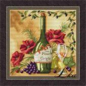 """Cross stitch pattern """"Vine Riserva2 - White""""."""