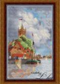 "Cross stitch pattern ""Dutch harbour""."