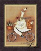 "Cross stitch pattern ""French chef - 2""."